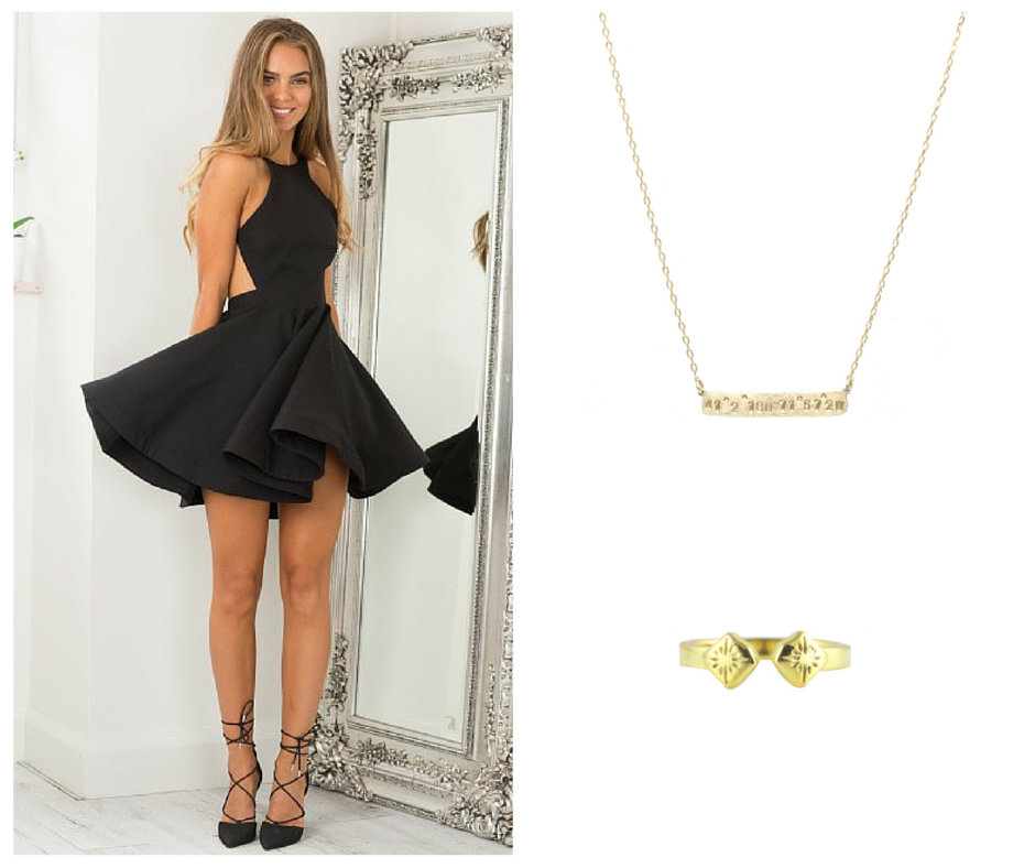 New Years Looks for the Girly Girl In Black and Gold | Kalaki Riot