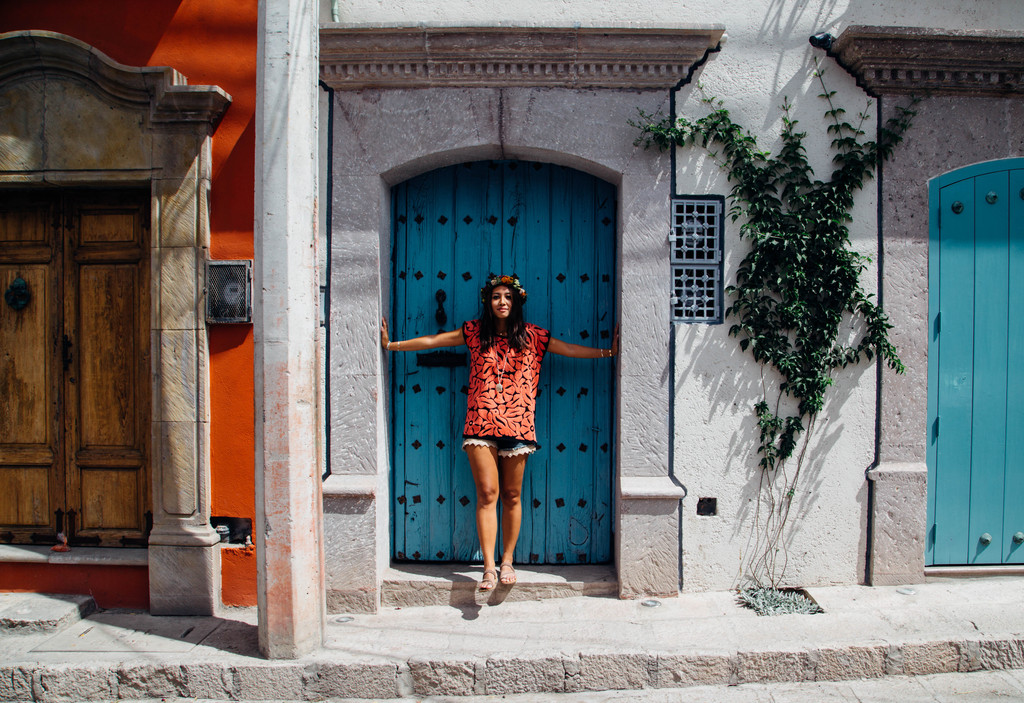 Tracy Dungo, Founder of Kalaki Riot, in San Miguel de Allende, Mexico